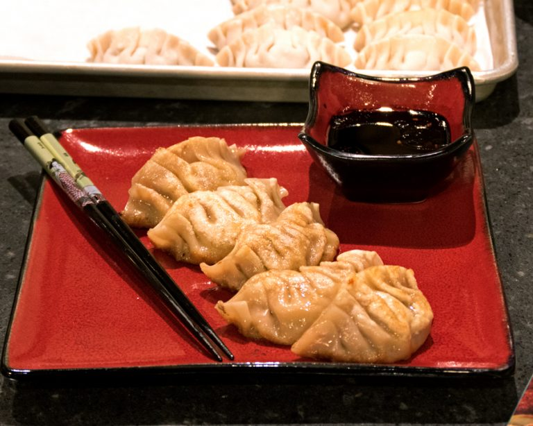 Shared Plates: Pork and Napa Cabbage Dumplings Recipe