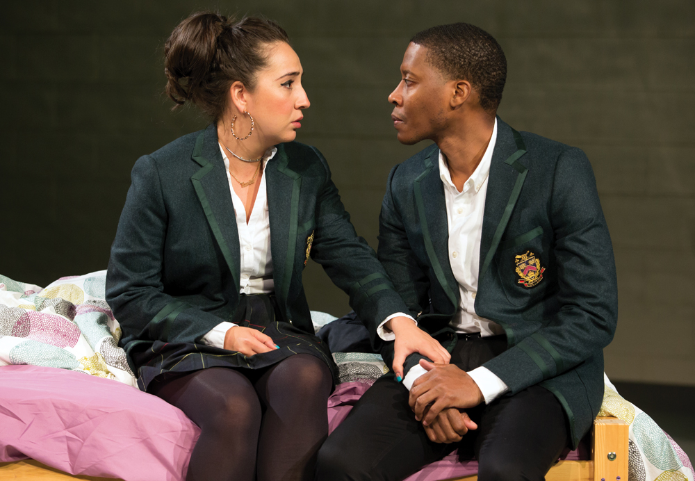 Heather Velaquez and Namir Smallwood in a production of Pipeline