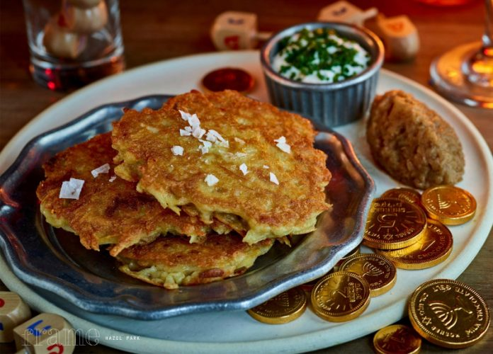Potato Latkes and Gelt