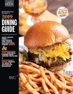 Metro Detroit Dining Guide 2019