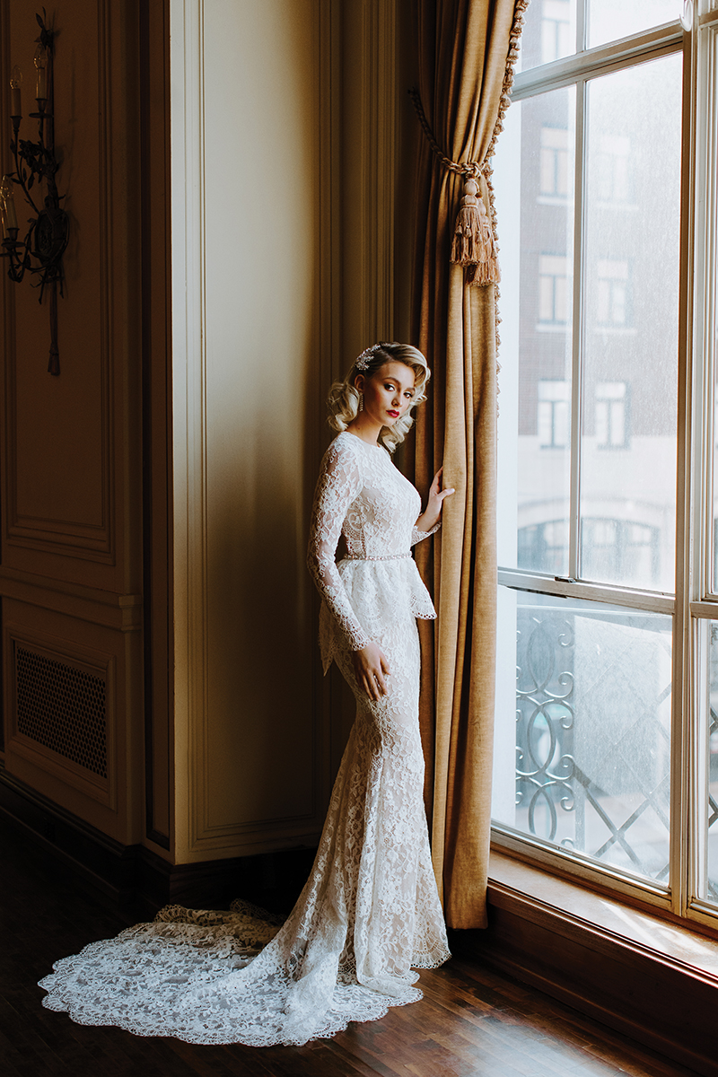 couture bridal gown designed by Katerina Bocci