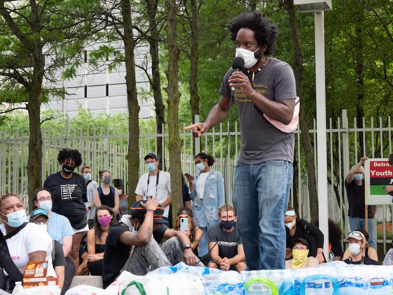 detroit protestors tristan taylor